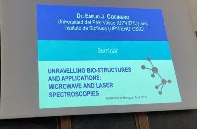 Emilio J  Cocinero gave a talk in Newcastle and Bologna